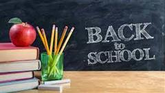 WELCOME BACK TO SCHOOL INFORMATION FROM THE DEPT